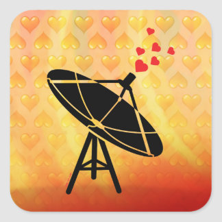 Love Antenna Square Sticker