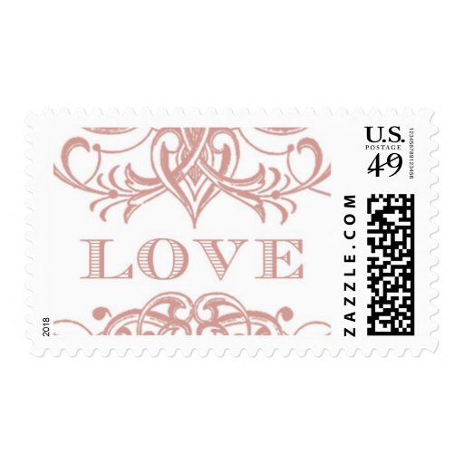 Love Antique B by Ceci New York Postage Stamp