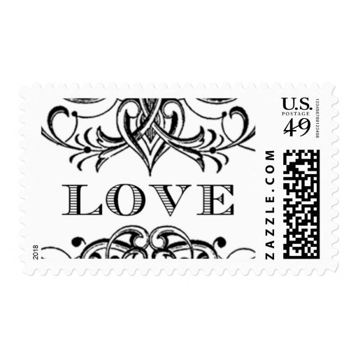 Love Antique C by Ceci New York Postage Stamp