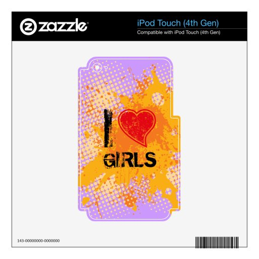 Love anything decal for iPod touch 4G
