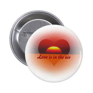 love are in the air pinback button
