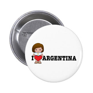 Love Argentina Pinback Button
