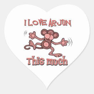 love ARJUN Heart Sticker