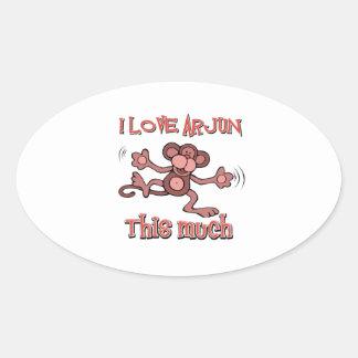 love ARJUN Oval Sticker