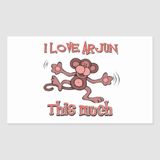 love ARJUN Rectangular Sticker