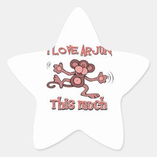 love ARJUN Star Sticker