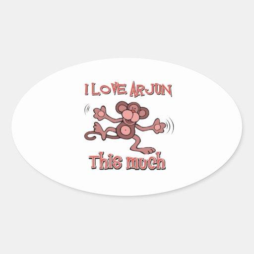 love ARJUN Oval Stickers