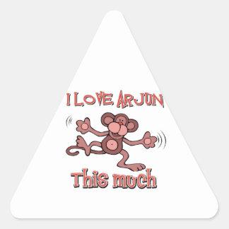 love ARJUN Triangle Sticker