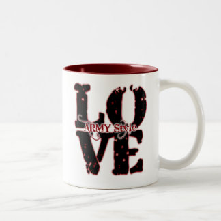LOVE: Army style Two-Tone Coffee Mug