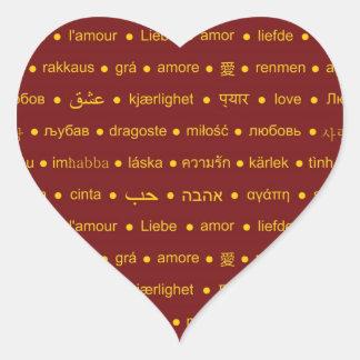 Love around the World Heart Sticker