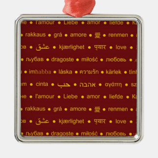 Love around the World Metal Ornament