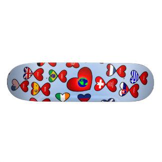 Love Around the World Skate Board