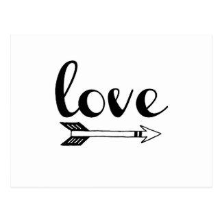 Love Arrow Design Postcard