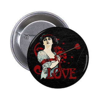 Love Arrow in the Heart 2 Inch Round Button