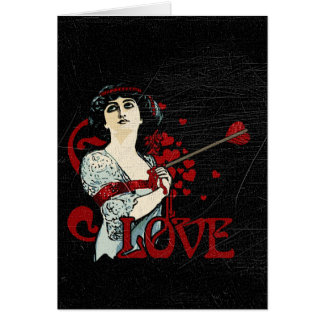 Love Arrow in the Heart Card