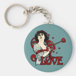Love Arrow in the Heart Keychain