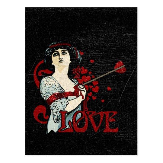 Love Arrow in the Heart Postcard