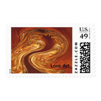 Love Art Copper & Glass Abstract Art Postage