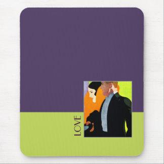 Love. Art Deco Design Gift Mousepad