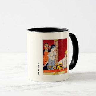 Love. Art Deco Design Valentine's Day Gift Mugs
