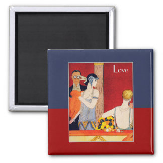 Love. Art Deco Valentine's Day Gift Magnets