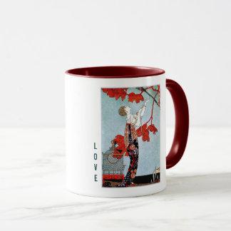 Love.  Art Deco Valentine's Day Gift Mugs