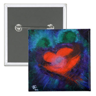 Love Art Gifts Heart Buttons Blue Red Abstract