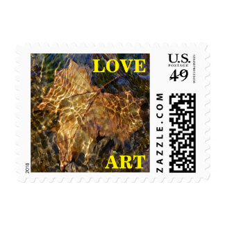 LOVE ART Leaf Floating Downstream Postage