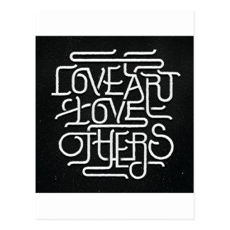 love art love others postcard