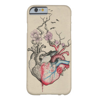 Love art merged anatomical hearts with flowers barely there iPhone 6 case