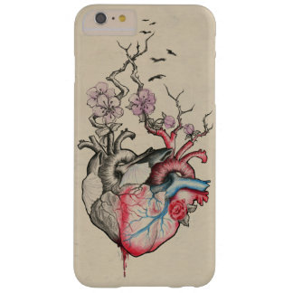 Love art merged anatomical hearts with flowers barely there iPhone 6 plus case