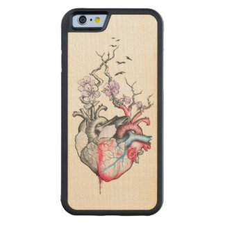Love art merged anatomical hearts with flowers carved® maple iPhone 6 bumper