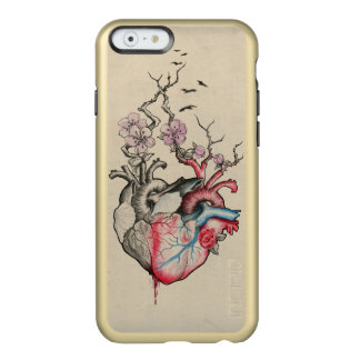 Love art merged anatomical hearts with flowers incipio feather® shine iPhone 6 case
