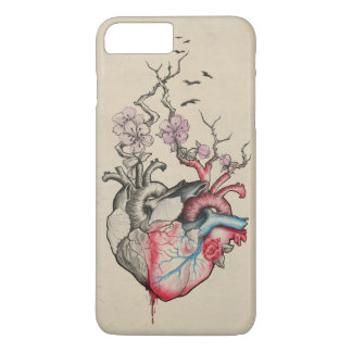 Love art merged anatomical hearts with flowers iPhone 7 plus case