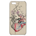 Love art merged anatomical hearts with flowers iPhone 5C case