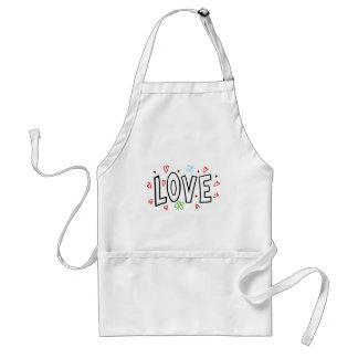Love Art With Hearts Adult Apron