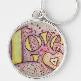 Love Art Word Painting Keychain