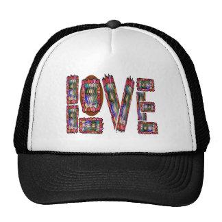 LOVE Artistic Script Mesh Hats