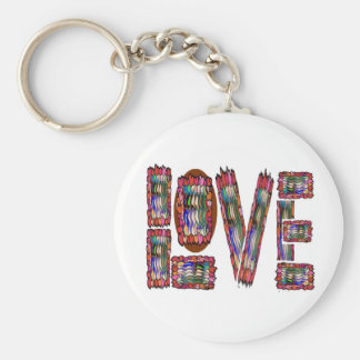 LOVE Artistic Script Keychains