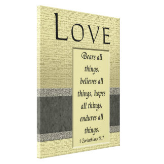Love Artwork Wrapped Canvas Print