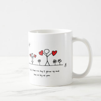 Love as Big as Dad - by Hearts and All Classic White Coffee Mug