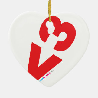 Love Ascii Ceramic Ornament