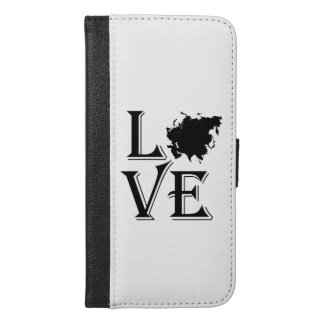 Love Asia Continent iPhone 6/6s Plus Wallet Case