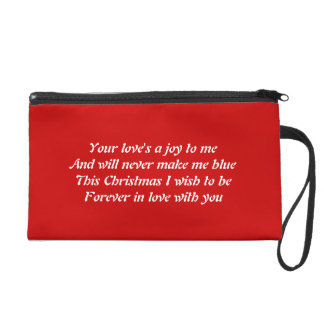 Love at Christmas Wristlet Purse