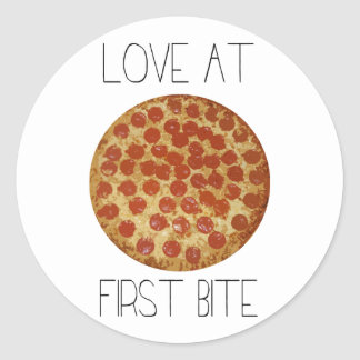 Love At First Bite Classic Round Sticker