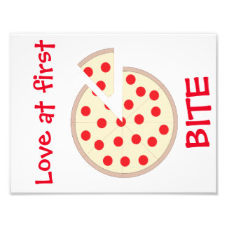 Love At First Bite Pizza Kitchen Wall Art Photo Print