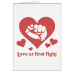Love at First Fight Valentine's Day Funny Greeting Cards