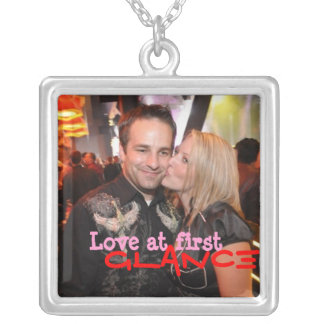 Love at First Glance Square Pendant Necklace