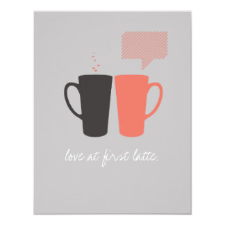 """""""Love at First Latte"""" Party/Shower Invite"""