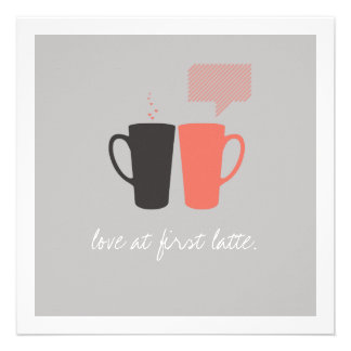 Love at First Latte Shower Invite